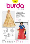2480 Burda Pattern: Girls' Princess and Snow White Costumes